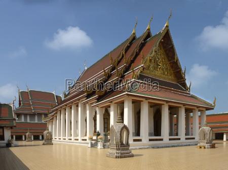 wat saket bangkok thailand southeast asia