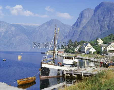 aurlandsfjorden canzone og flordane norvegia scandinavia