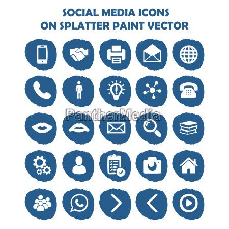 icono de redes sociales en pintura