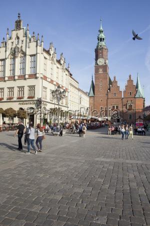 polonia wroclaw piazza della citta vecchia