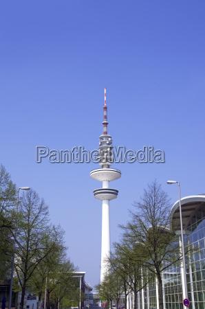 germania amburgo veduta della torre della