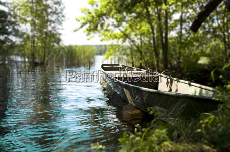 germany brandenburg view of boat at