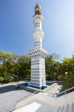 maldive male minareto della moschea di