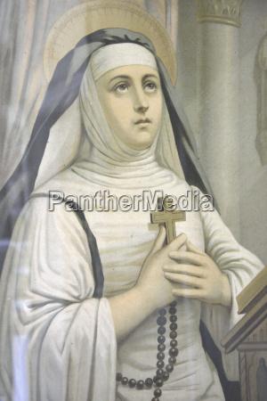 dipinto di vergine maria