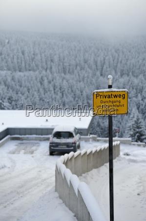 segnale privato viaggio viaggiare albero inverno