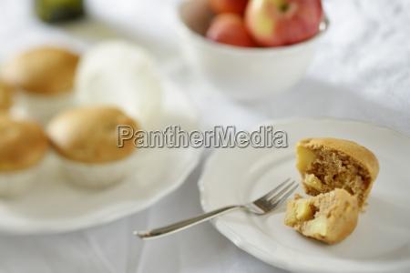 biscotto frutta piatto fotografia foto forchetta