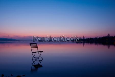 germany baden wuerttemberg chair at lake
