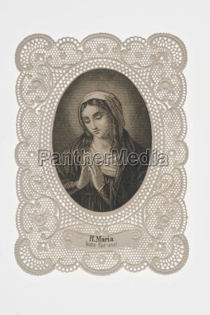 cornice di benedetta vergine maria da