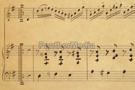 dettaglio musica fotografia foto note musicali