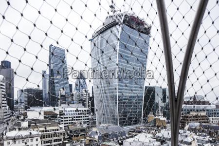 regno unito londra vista ai grattacieli