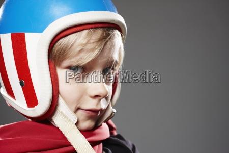 ritratto fotografia foto proteggere casco infanzia
