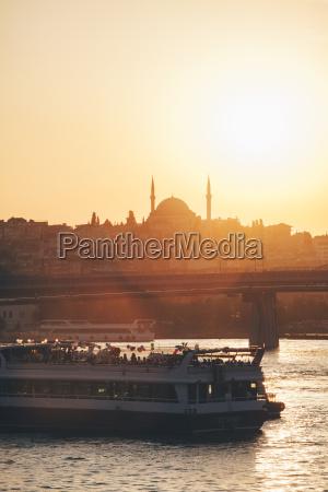 turchia istanbul vista del traghetto sul