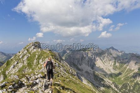germania baviera alpi di ammergau vista