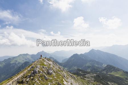 germany bavaria ammergau alps view of