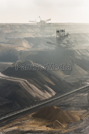 germania vista di estrazione di carbone