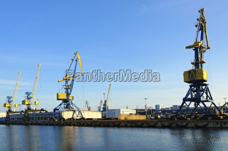 germany view of harbour crane for