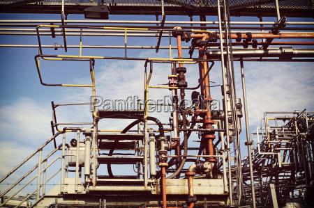 industria impianti industriali nuvola germania metallo