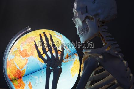 skeleton azienda globo primo piano