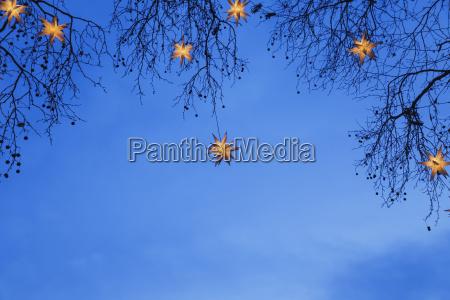 inverno romantico avvento sera sera cielo