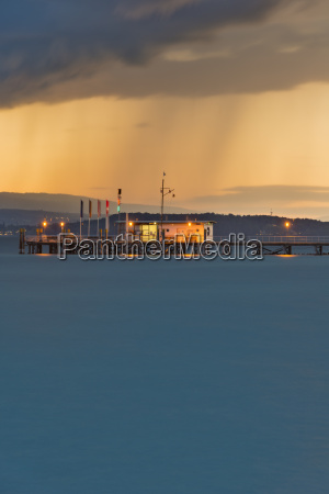 germany ferry jetty at lake constance