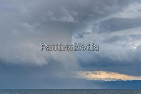 germany rain clouds in heavy wind