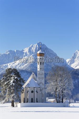 germany bavaria view of st coloman