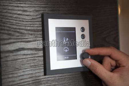 termostato di regolazione della mano a