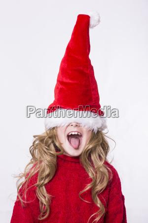ragazza santa indossare cappello gli occhi