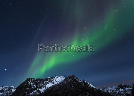 norwegia lofoten polar lights aurora borealis