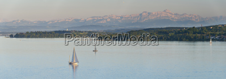 germany sailing boat on lake constance