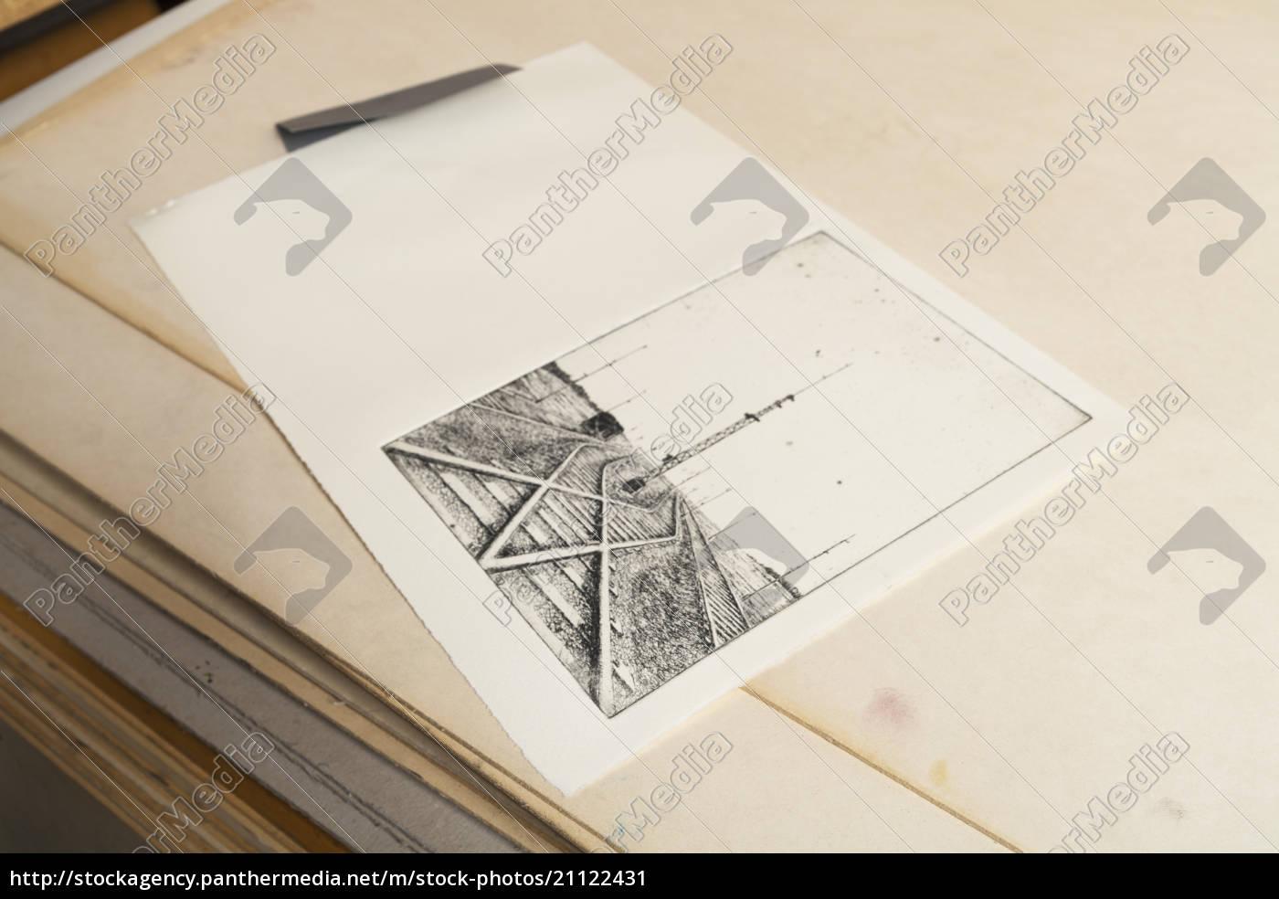 germania, baviera, deckle, carta, bordo, con, schizzo, di - 21122431