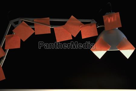 nota annotare scrivania fotografia foto illuminato