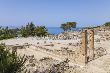 grecia rodi kamiros citta antica in