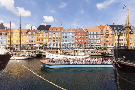 danimarca copenhagen nyhavn canale e barca
