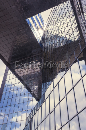 uk london glass facade of an