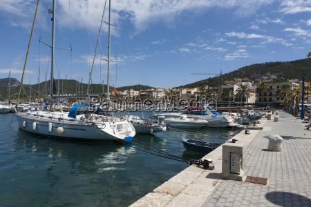 spain balearic islands mallorca view of