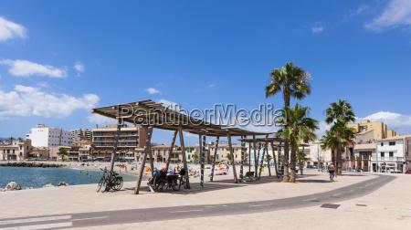 spain mallorca view of portixol beach