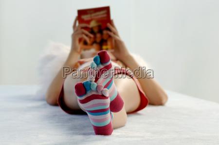 relax letto orizzontale vista frontale fotografia