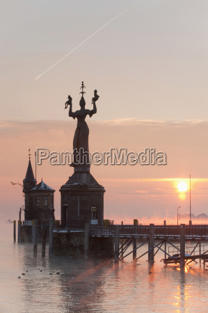 germany konstanz lake constance and statue