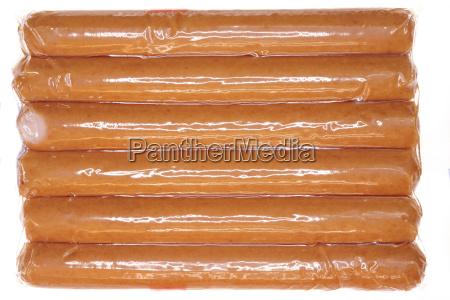 freschezza salsiccia pacchetto plastica avvolto preparazione