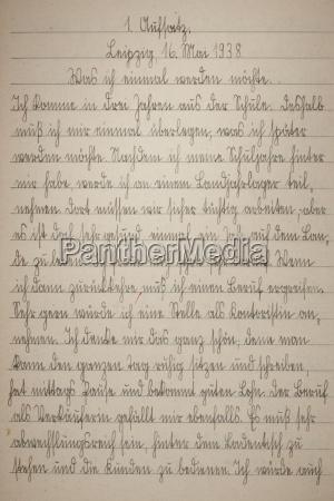 pagina di scrittura a mano del