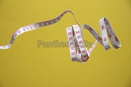 nastro di misurazione arrotolato primo piano