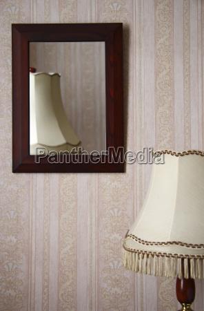 arredamento stanza specchio riflettere carta da