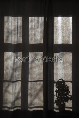 germany illuminated window at night close