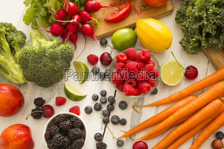 natura morta freschezza orizzontale frutta verdura