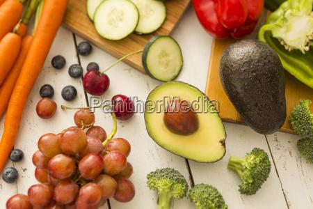 natura morta freschezza orizzontale frutta cetriolo