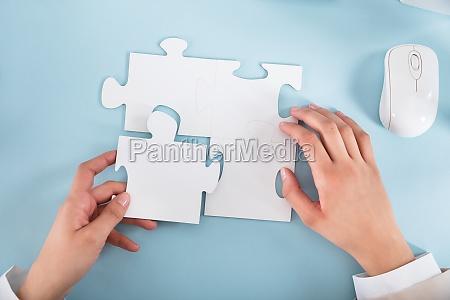 ufficio mano gioco giocato giocare puzzle