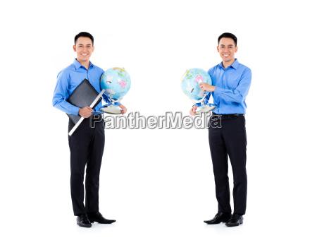 asian teacher man isolated professional