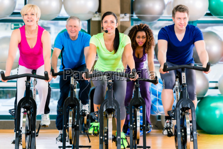 fitness group of men and women