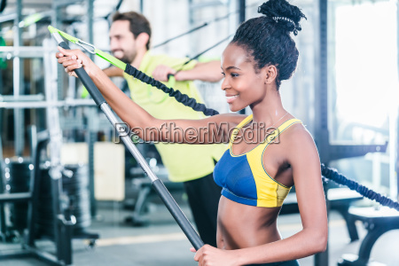 woman and man in functional training